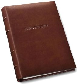 British Tan Bonded Leather Address Book 9x7