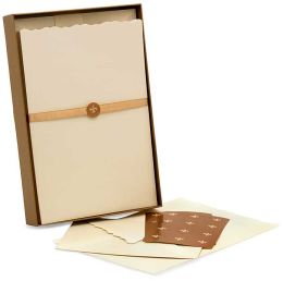 Ivory Stationery Set- 100 Sheets, 50 Envelopes & 24 Seals (9.5