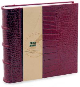 Red Crocodile Embossed Photo Album 8.5x9