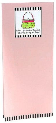 Note Pad Pink Green Hand Bag Magnetic