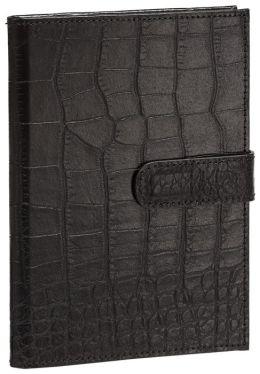Black Crocodile Embossed Genuine Leather Photo Wallet 4
