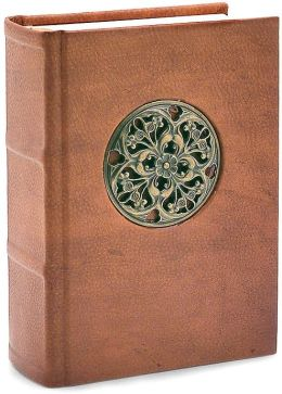 Brown Rosone Medallion Italian Leather Journal Blank 5x7