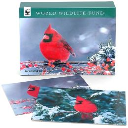 World Wildlife Fund Cardinal Holiday Cards set of 20