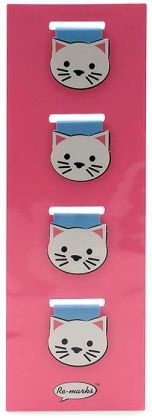 Magnetic Page Clips Cat Bookmarks Set of 4