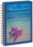 "Product Image. Title: Blue Serenity Prayer Spiral Journal (5""x8"")"