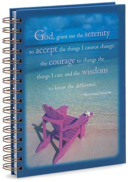 Blue Serenity Prayer Spiral Journal (5