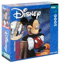 Disney Character Photomosaic 1000 piece puzzle Assortment with Poster