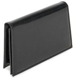 Black Bonded Leather Business Card Holder