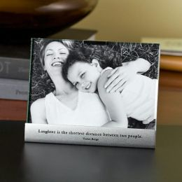 Laughter Metal Base Quote Frame 4x6