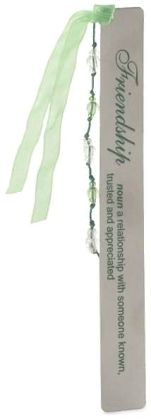 Friendship Definition Green Metal Bookmark