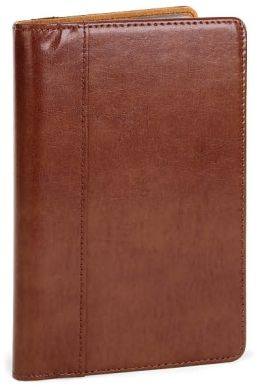 Business Card Folio Sienna bonded leather