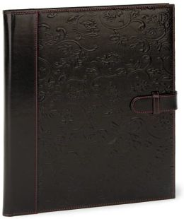 Gramercy Embossed Black Bonded Leather Writing Folio 8.5x11