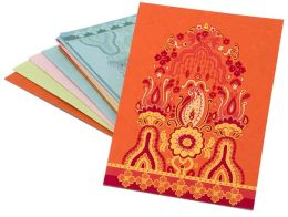 Asian Mehrab Design Notecards Multicolor set of 8