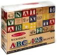 Product Image. Title: Classic Wooden ABC-123 Blocks