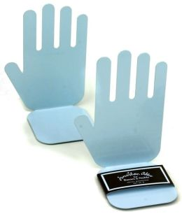 Jonathan Adler Blue Metal Hand Bookends