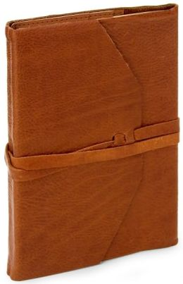 Poet's Cognac Soft Leather Italian Journal with Tie ( 6' x 9