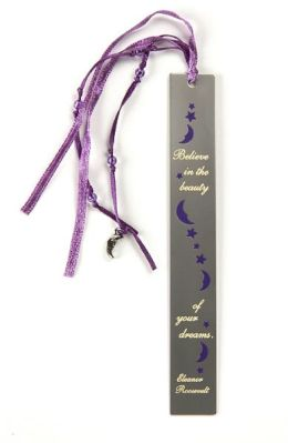 Purple Moon Vine Metal Bookmark