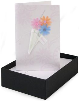Handmade Boxed Card Floral Thank You set of 8