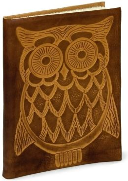 Owl Embossed Tan Italian Leather Journal (6