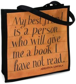Jeff Fisher Lincoln/Erasmus Quotes Tote - (14x14x5)