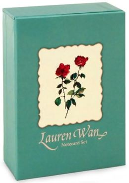 Lauren Wan Pink Rose Note Card Box Set/20 (3