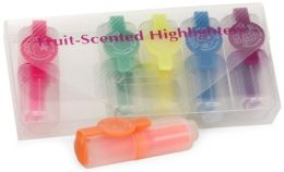 Mini Fruit-Scented Highlighters - Set of 6