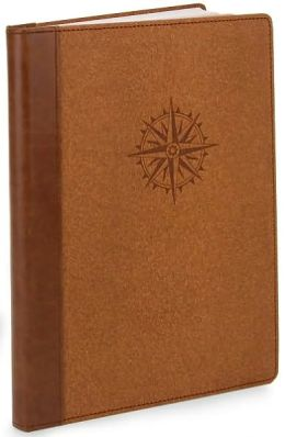 Tan Wood Grain Compass Rose Lined Journal (7x9)