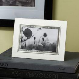 Silver Go Confidently Thoreau Quote Frame 4x6