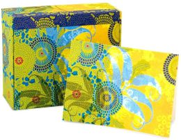 Temple Double Flower MementoBox Recycled Note Cards Set of 25