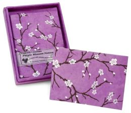 Purple Blossom Boxed Note Card Set of 6