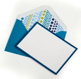 Jonathan Adler Weight Teal & Green Correspondence Notecards -Set of 8