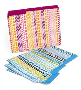 Jonathan Adler Weight Assorted Color File Folders Set of 6