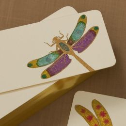 Hand Painted Dragonfly Bookmark