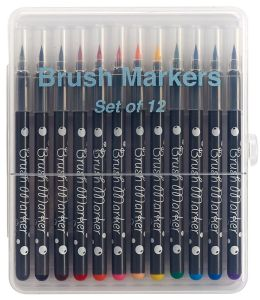 Brush Markers Multi-Colored Set of 12
