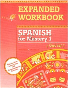 McDougal Littell Spanish for Mastery: Workbook Student Editiont Level 1
