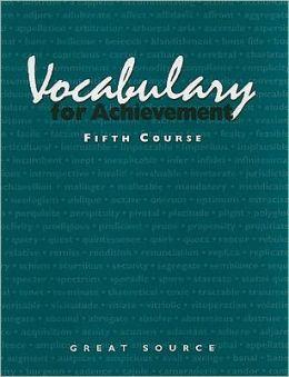 Vocabulary for Achievement: Course 5