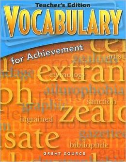Vocabulary for Achievement: First Course