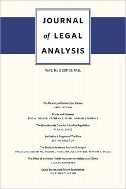 Journal of Legal Analysis, Volume 2: Number 2 (2010): Fall