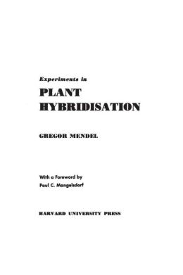 Experiments in Plant Hybridisation