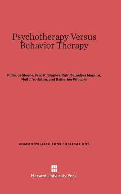 Psychotherapy vs. Behavior Therapy