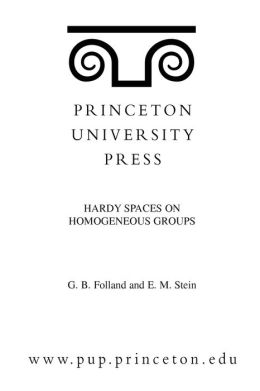 Hardy Spaces on Homogeneous Groups. (MN-28)