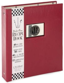 Bon Appetit Recipe Book Red/Black 9x8
