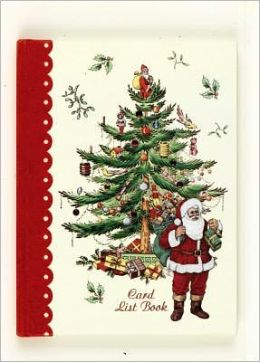 Spode Tree Xmas Card List Bk