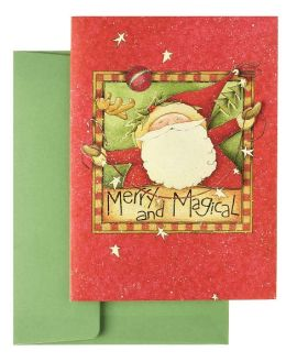 Merry And Magical Santa Tip On Christmas Boxed Card