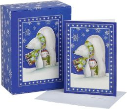 Polar Bears Tip on Christmas Boxed Card