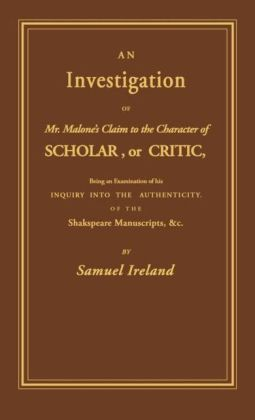 Investigation into Mr. Malone's Claim to Charter of Scholar: Volume 24