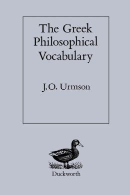 The Greek Philosophical Vocabulary