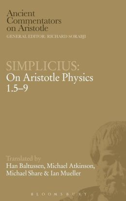 Simplicius: On Aristotle Physics 1.5-9