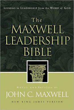 The Maxwell Leadership Bible: New King James Version (NKJV), black bonded leather, gold-gilded edging