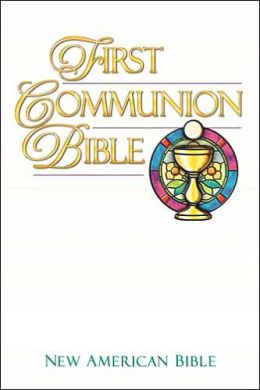 First Communion Bible: New American Bible (NAB), white imitation leather